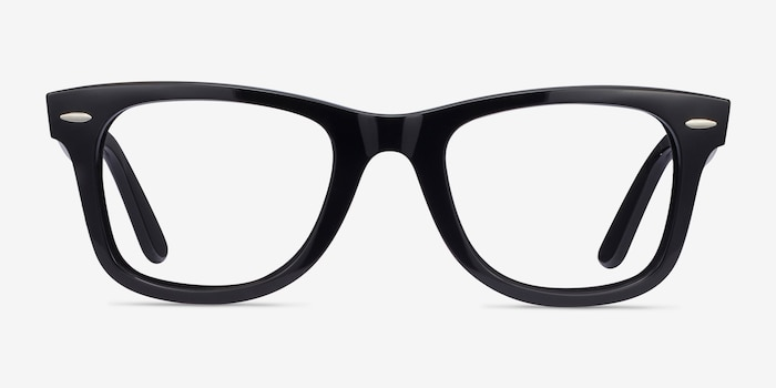 Ray-Ban RB4340V Black Plastic Eyeglass Frames from EyeBuyDirect, Front View