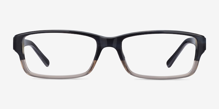 Ray-Ban RB5169 Black & Gray Acetate Eyeglass Frames from EyeBuyDirect, Front View