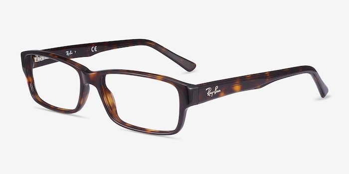 Ray-Ban RB5169 Tortoise Acetate Eyeglass Frames from EyeBuyDirect, Angle View