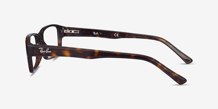 Ray-Ban RB5169 Tortoise Acetate Eyeglass Frames from EyeBuyDirect, Side View