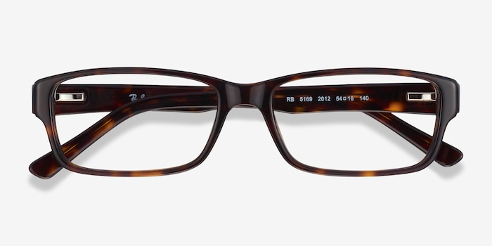 Ray-Ban RB5169 Tortoise Acetate Eyeglass Frames from EyeBuyDirect, Closed View