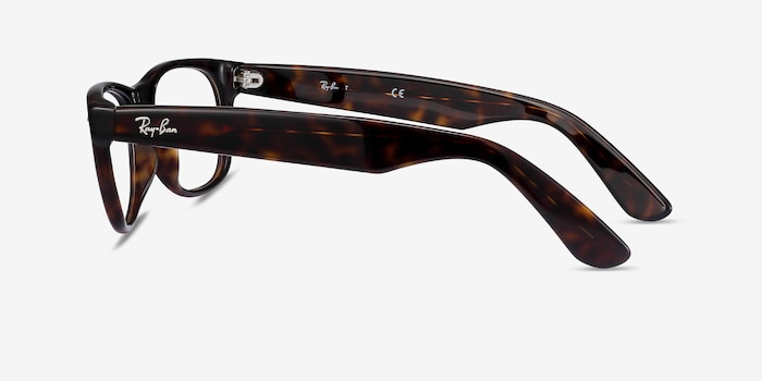 Ray-Ban RB5184 Tortoise Acetate Eyeglass Frames from EyeBuyDirect, Side View