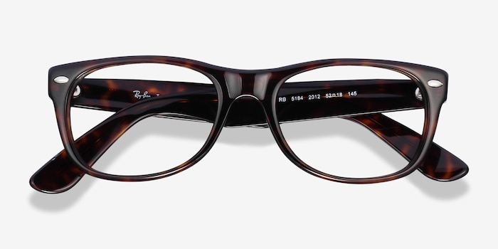 Ray-Ban RB5184 Tortoise Acetate Eyeglass Frames from EyeBuyDirect, Closed View