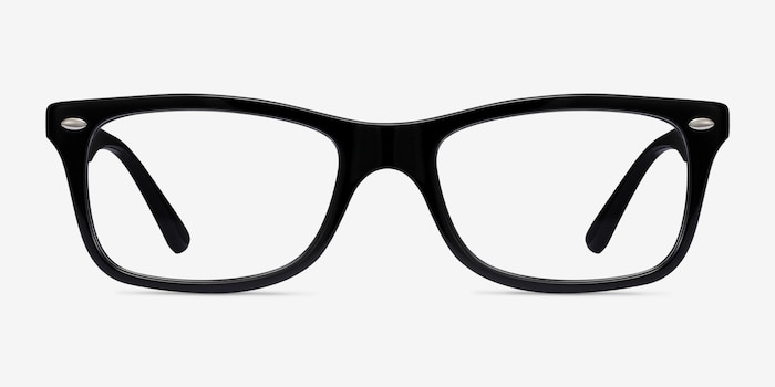 Ray-Ban RB5228 Black Acetate Eyeglass Frames from EyeBuyDirect, Front View