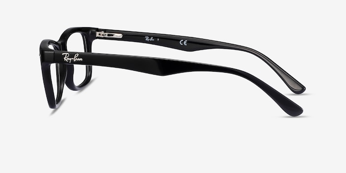Ray-Ban RB5228 Black Acetate Eyeglass Frames from EyeBuyDirect, Side View