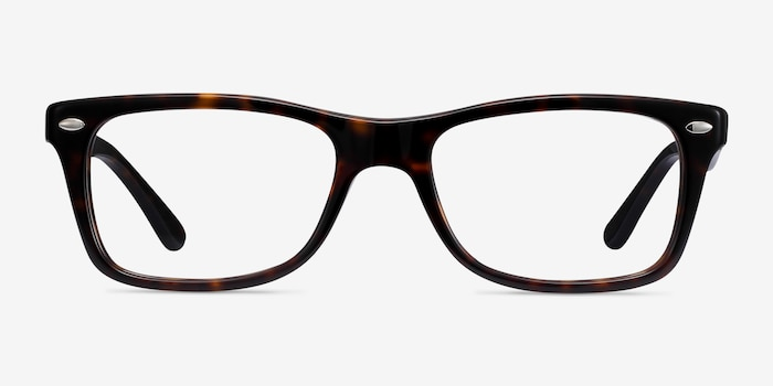 Ray-Ban RB5228 Tortoise Acetate Eyeglass Frames from EyeBuyDirect, Front View
