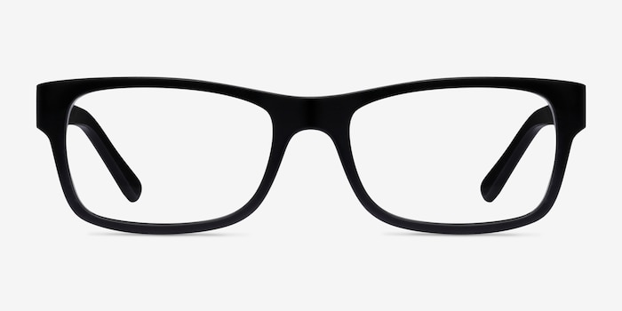 Ray-Ban RB5268 Matte Black Acetate Eyeglass Frames from EyeBuyDirect, Front View