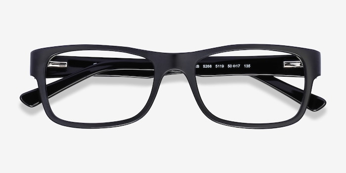 Ray-Ban RB5268 Matte Black Acetate Eyeglass Frames from EyeBuyDirect, Closed View