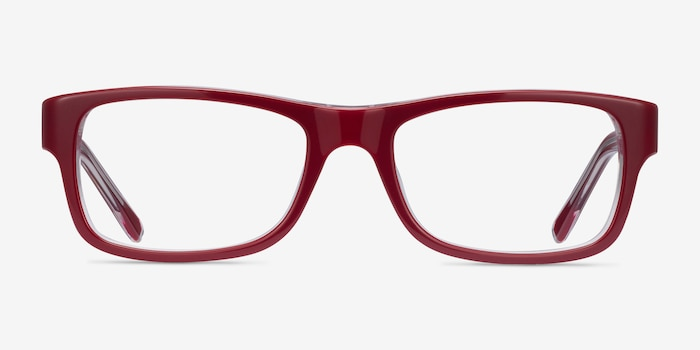 Ray-Ban RB5268 Red Acetate Eyeglass Frames from EyeBuyDirect, Front View