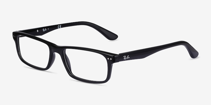 Ray-Ban RB5277 Black Acetate Eyeglass Frames from EyeBuyDirect, Angle View