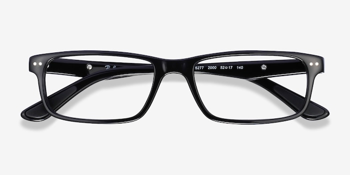 Ray-Ban RB5277 Black Acetate Eyeglass Frames from EyeBuyDirect, Closed View