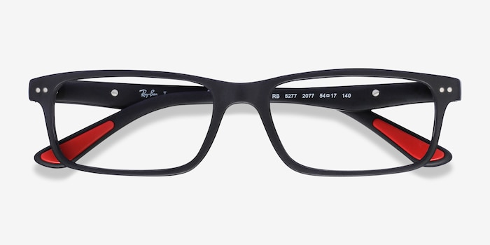 Ray-Ban RB5277 Matte Black Acetate Eyeglass Frames from EyeBuyDirect, Closed View