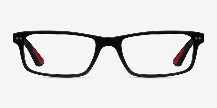 Ray-Ban RB5277 Matte Black Acetate Eyeglass Frames from EyeBuyDirect, Front View