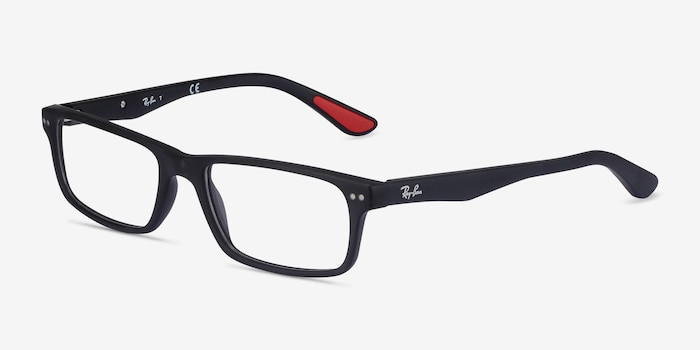 Ray-Ban RB5277 Matte Black Acetate Eyeglass Frames from EyeBuyDirect, Angle View