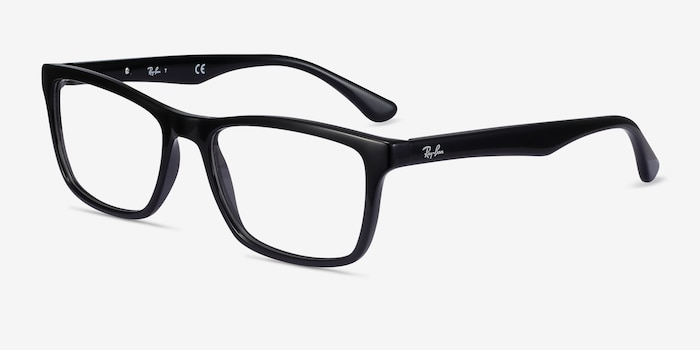 Ray-Ban RB5279 Black Acetate Eyeglass Frames from EyeBuyDirect, Angle View