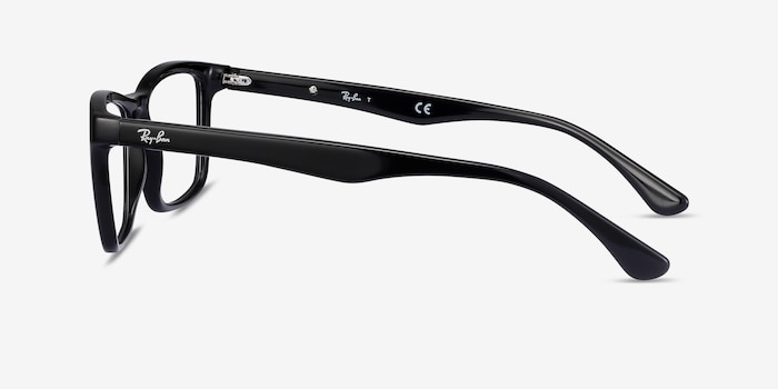 Ray-Ban RB5279 Black Acetate Eyeglass Frames from EyeBuyDirect, Side View