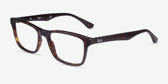 Ray-Ban RB5279 Tortoise Acetate Eyeglass Frames from EyeBuyDirect, Angle View