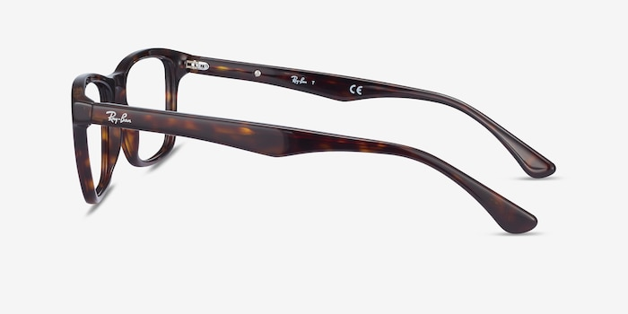 Ray-Ban RB5279 Tortoise Acetate Eyeglass Frames from EyeBuyDirect, Side View