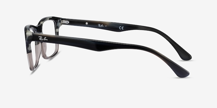 Ray-Ban RB5279 Black & Gray Acetate Eyeglass Frames from EyeBuyDirect, Side View