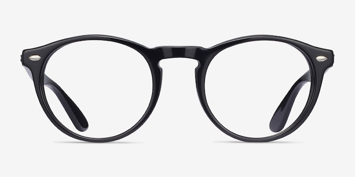 Ray-Ban RB5283 Black Acetate Eyeglass Frames from EyeBuyDirect, Front View