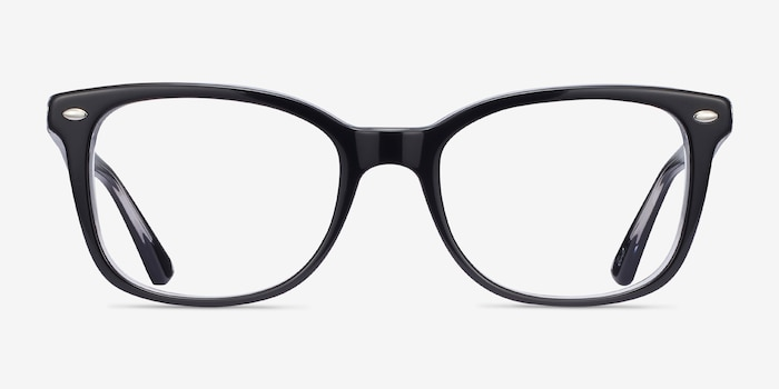 Ray-Ban RB5285 Black Acetate Eyeglass Frames from EyeBuyDirect, Front View