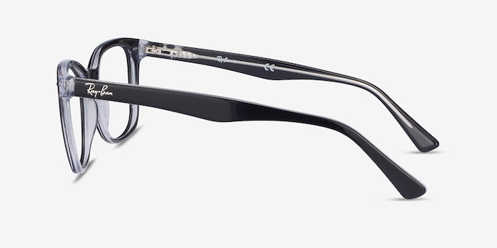Ray-Ban RB5285 Black Acetate Eyeglass Frames from EyeBuyDirect, Side View