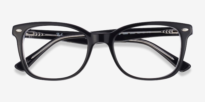 Ray-Ban RB5285 Black Acetate Eyeglass Frames from EyeBuyDirect, Closed View