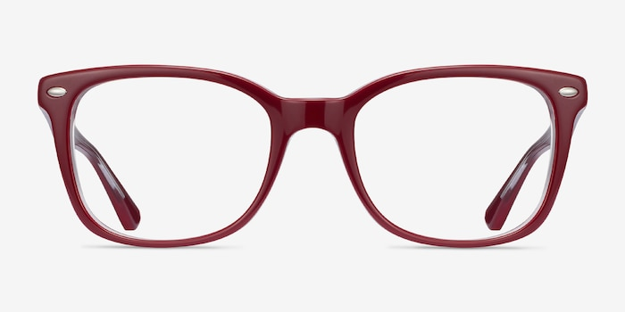 Ray-Ban RB5285 Burgundy Acetate Eyeglass Frames from EyeBuyDirect, Front View