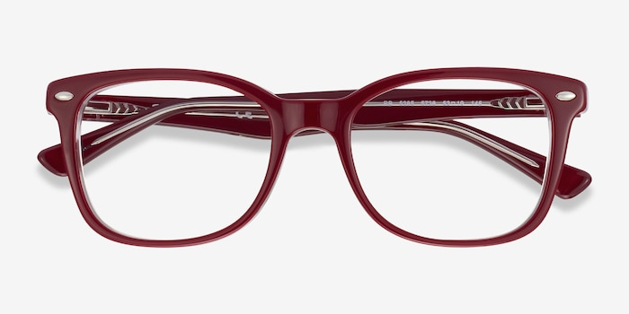 Ray-Ban RB5285 Burgundy Acetate Eyeglass Frames from EyeBuyDirect, Closed View