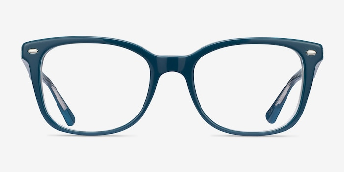 Ray-Ban RB5285 Blue Acetate Eyeglass Frames from EyeBuyDirect, Front View
