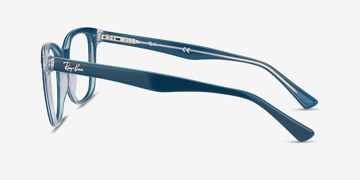Ray-Ban RB5285 Blue Acetate Eyeglass Frames from EyeBuyDirect, Side View