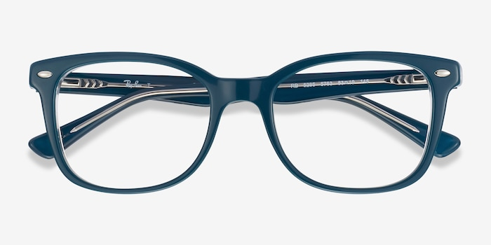 Ray-Ban RB5285 Blue Acetate Eyeglass Frames from EyeBuyDirect, Closed View