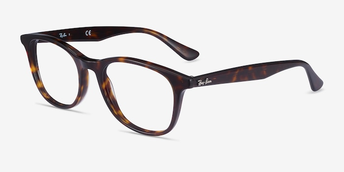 Ray-Ban RB5356 Tortoise Acetate Eyeglass Frames from EyeBuyDirect, Angle View