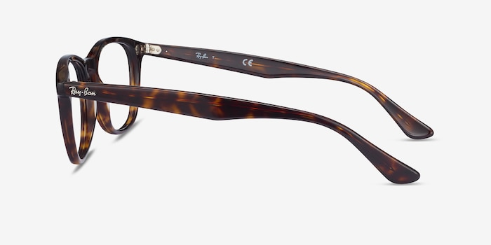 Ray-Ban RB5356 Tortoise Acetate Eyeglass Frames from EyeBuyDirect, Side View