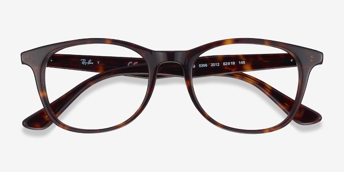 Ray-Ban RB5356 Tortoise Acetate Eyeglass Frames from EyeBuyDirect, Closed View