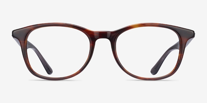 Ray-Ban RB5356 Tortoise & Gray Acetate Eyeglass Frames from EyeBuyDirect, Front View