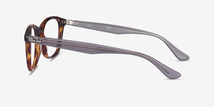 Ray-Ban RB5356 Tortoise & Gray Acetate Eyeglass Frames from EyeBuyDirect, Side View