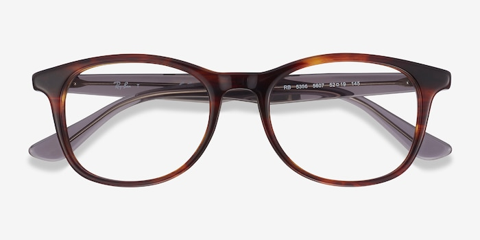 Ray-Ban RB5356 Tortoise & Gray Acetate Eyeglass Frames from EyeBuyDirect, Closed View
