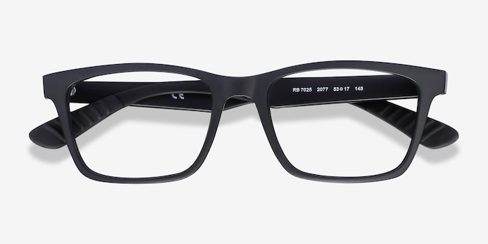 Ray-Ban RB7025 Black Plastic Eyeglass Frames from EyeBuyDirect, Closed View