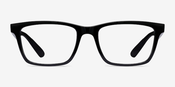 Ray-Ban RB7025 Shiny Black Plastic Eyeglass Frames from EyeBuyDirect, Front View