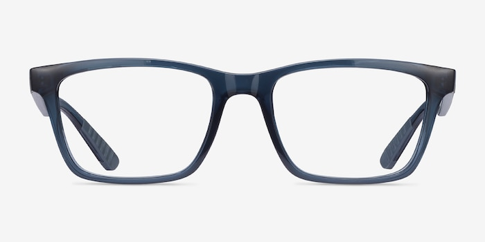 Ray-Ban RB7025 Blue Plastic Eyeglass Frames from EyeBuyDirect, Front View