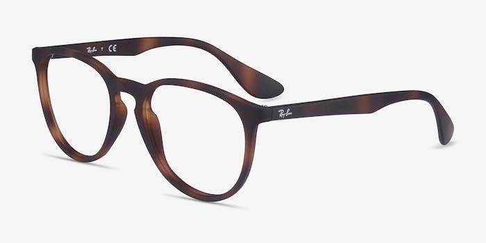 Ray-Ban RB7046 Tortoise Plastic Eyeglass Frames from EyeBuyDirect, Angle View