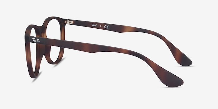 Ray-Ban RB7046 Tortoise Plastic Eyeglass Frames from EyeBuyDirect, Side View