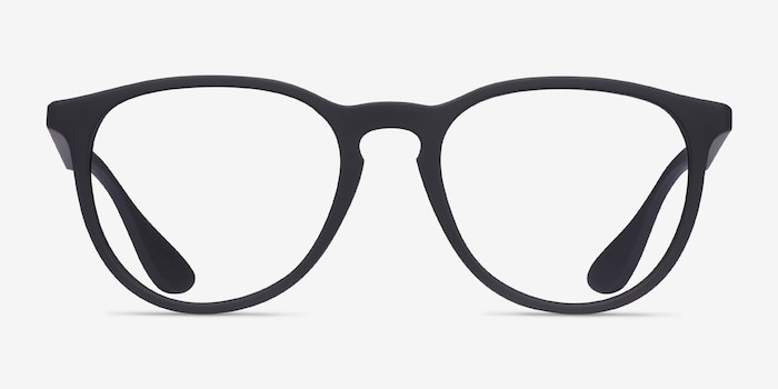 Ray-Ban RB7046 Black Plastic Eyeglass Frames from EyeBuyDirect, Front View