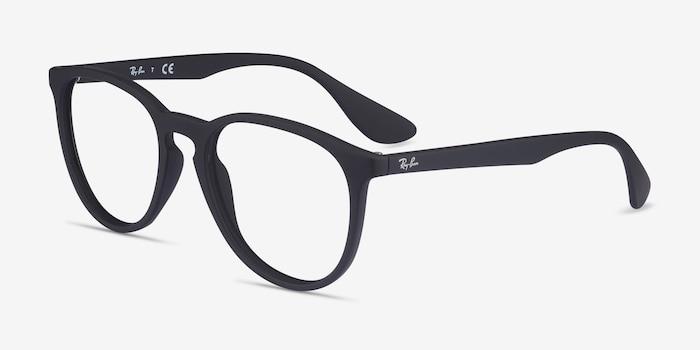 Ray-Ban RB7046 Black Plastic Eyeglass Frames from EyeBuyDirect, Angle View