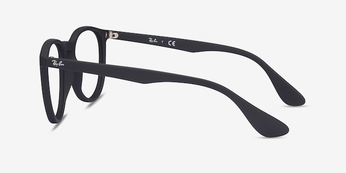 Ray-Ban RB7046 Black Plastic Eyeglass Frames from EyeBuyDirect, Side View