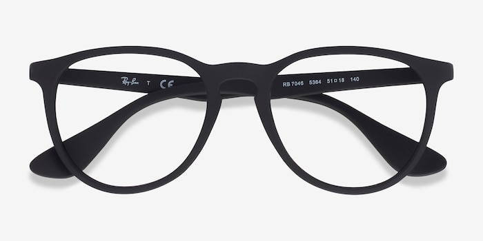 Ray-Ban RB7046 Black Plastic Eyeglass Frames from EyeBuyDirect, Closed View