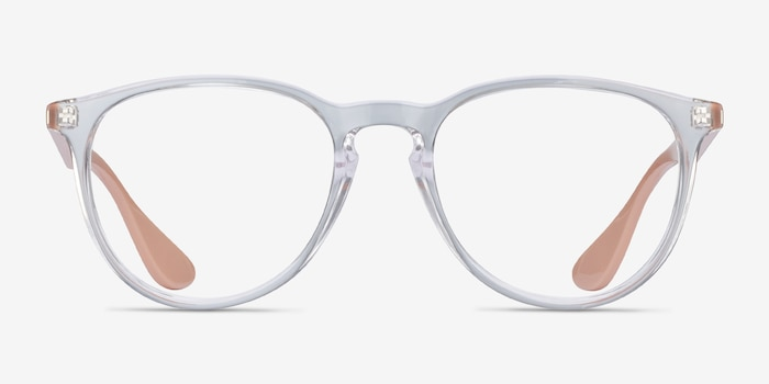 Ray-Ban RB7046 Clear & Pink Beige Plastic Eyeglass Frames from EyeBuyDirect, Front View