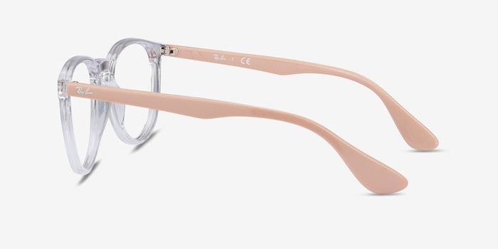 Ray-Ban RB7046 Clear & Pink Beige Plastic Eyeglass Frames from EyeBuyDirect, Side View