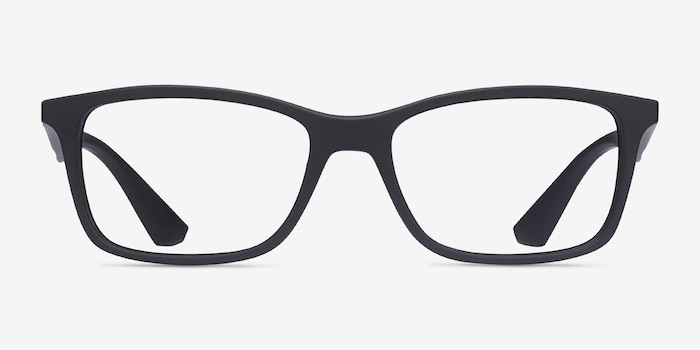 Ray-Ban RB7047 Black Plastic Eyeglass Frames from EyeBuyDirect, Front View